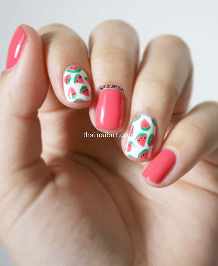 watermelon-nails