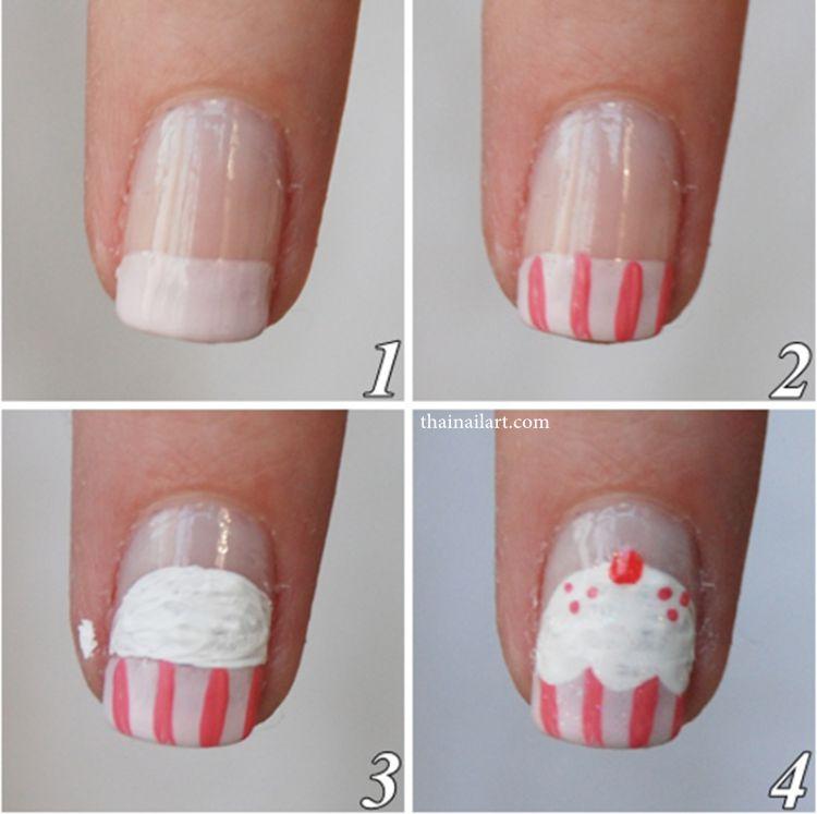 cupcake nailart
