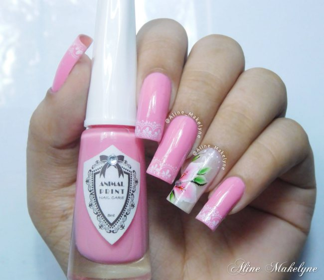 Pink flowers unhas cover