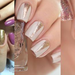 gold nail art cover