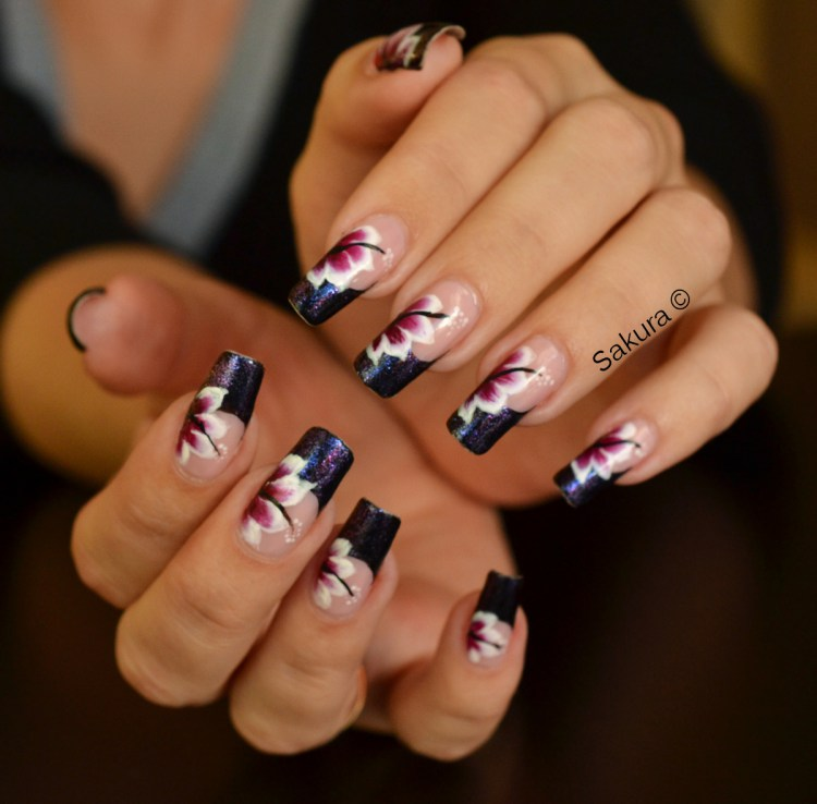 Flowers daily nails