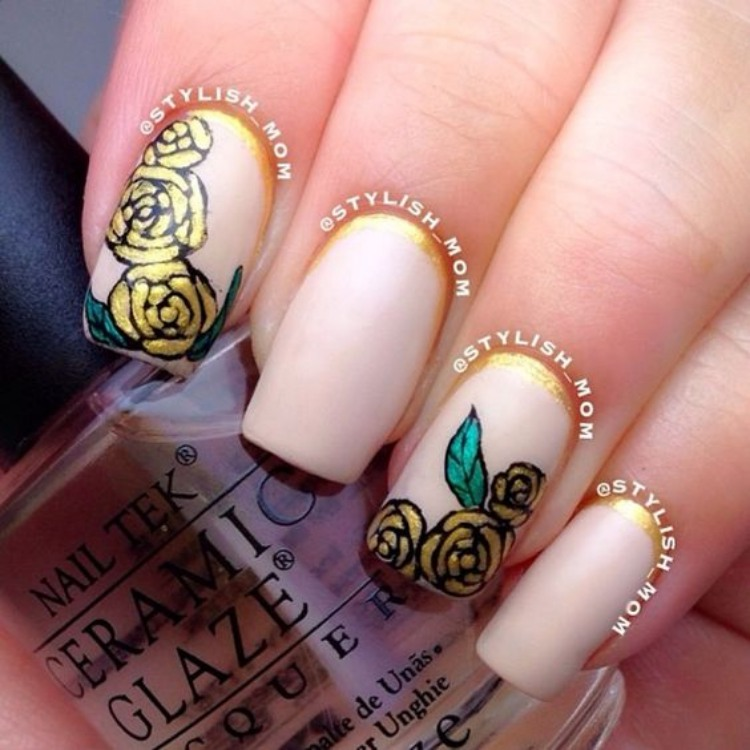Beauty and the beast nail ideas