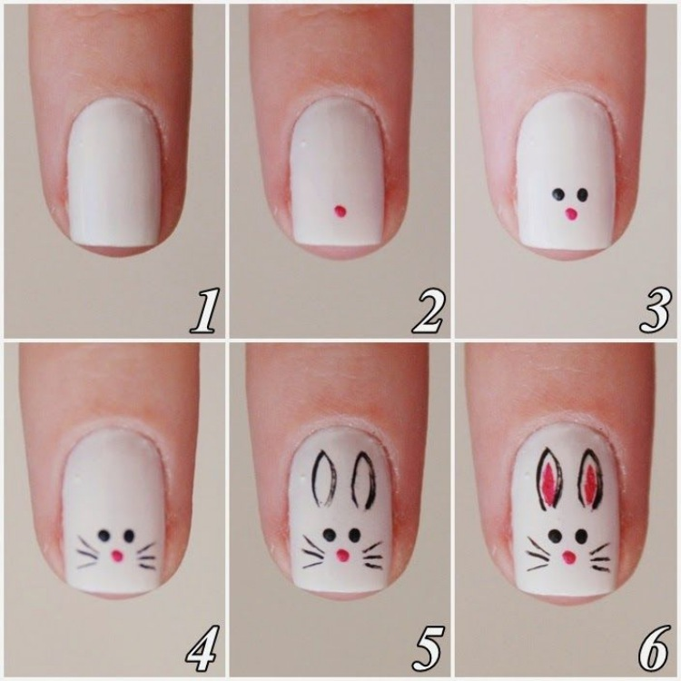 Bunny Easter Nails