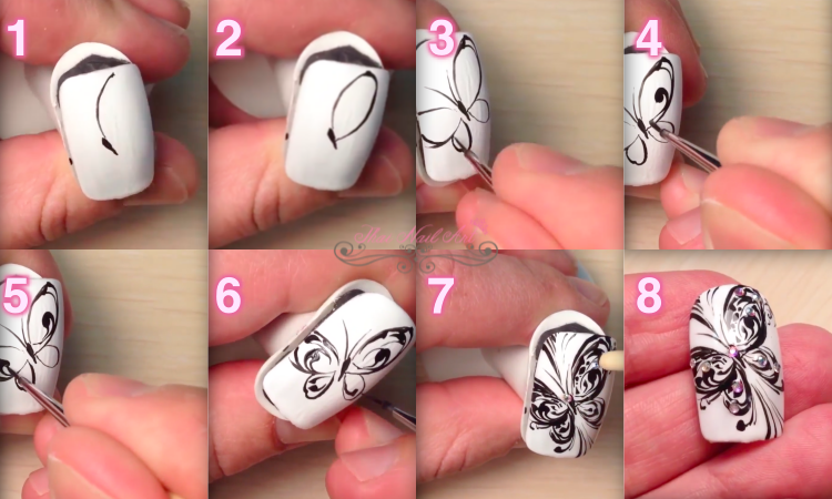 Butterfly Nails step by step
