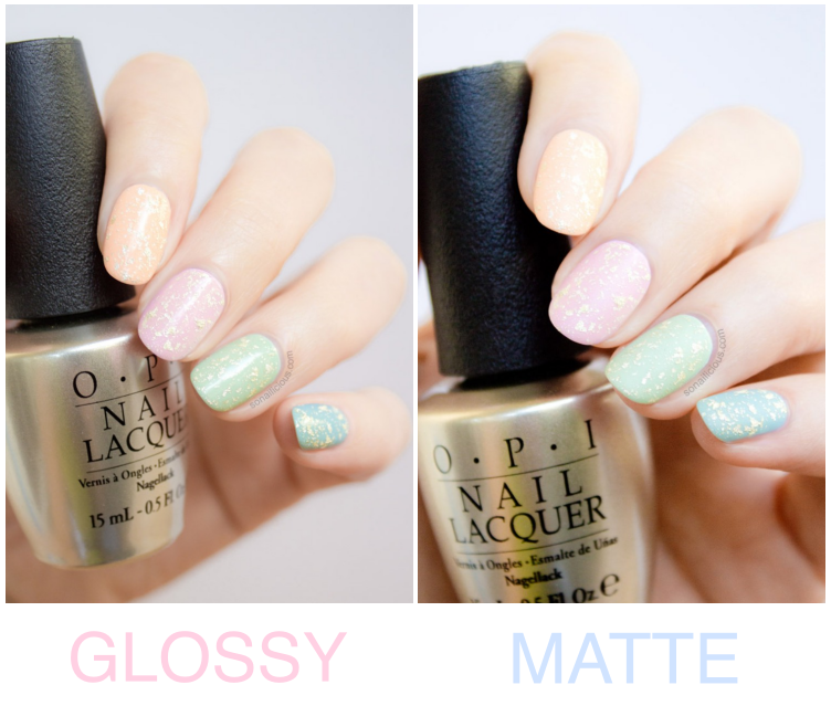 Easter nail art OPI