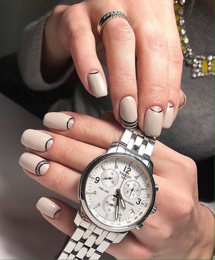 Half moon nails1