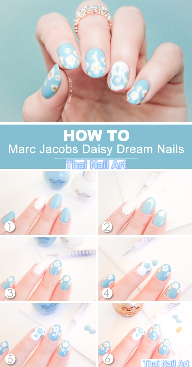 Marc Jacob Daisy Nails ideas1