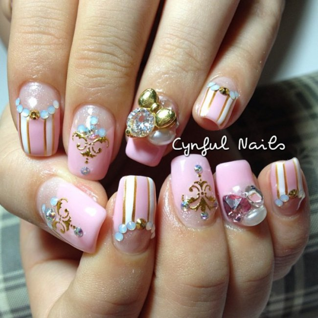 Ribbon Nails