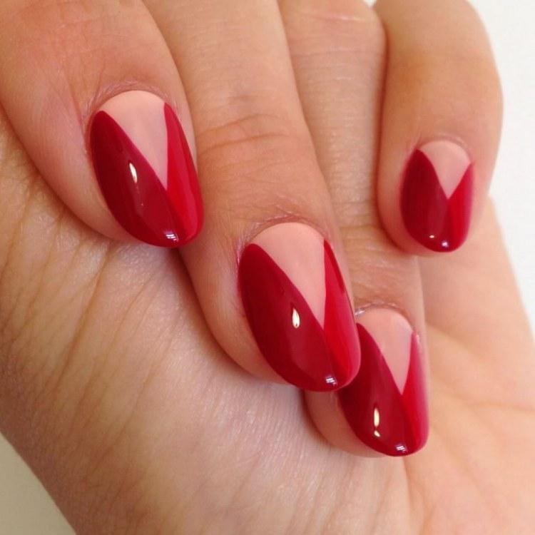 Triangle half moon nails