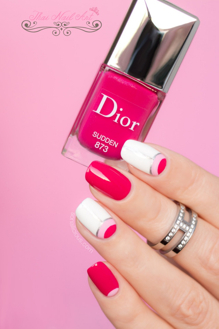 Nail art inspired by Christian Dior