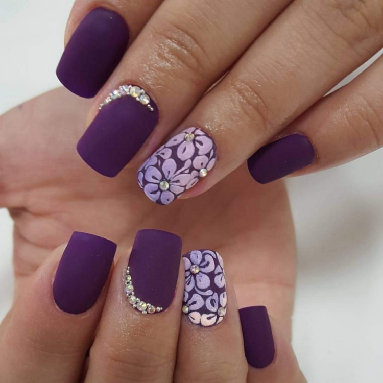 Purple Gel Nails
